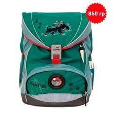 """Ранец ErgoFlex XL """"Пантера"""", спортивная сумка, два пенала и папка-бокс"""