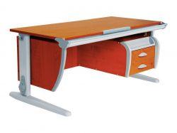 Комплект ДЭМИ Парта СУТ-15-03 120х55 см с креслом Nobel и прозрачной накладкой на парту 65х45