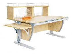 Комплект ДЭМИ Парта СУТ 15-02Д2 с креслом Oxford C3 и прозрачной накладкой на парту 65х45