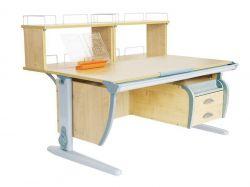 Комплект ДЭМИ Парта СУТ 15-04Д2 с креслом Cambridge Duo и прозрачной накладкой на парту 65х45