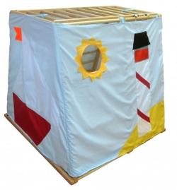 Игровой чехол KIDWOOD Море для ДСК Домино, Ракета, Парус