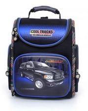 Темно-синий ранец Hummingbird Cool Trucks для мальчика (K101)
