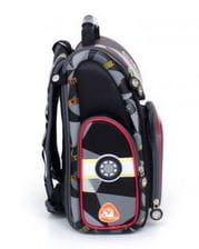 Черный ранец Hummingbird Speed Demon для мальчика (K110)