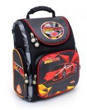 Черный ранец Hummingbird Speed Rush для мальчика (K111)