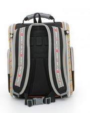 Черный ранец Hummingbird Racing League для мальчика (K62)