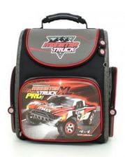 Черный ранец Hummingbird Monster Truck для мальчика (K87)