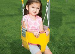 Качель для малышей полностью закрытая Rainbow (Commerical-Grade Bucket Swing)