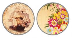 Парта ДЭМИ СУТ-15-02Р 120х55 см с рисунком + 2 задние и боковая приставки