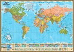 Карта Мир политический Globen 1:55 59х36