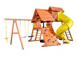 Игровая площадка PlayGarden Original Castle Turbo с двумя горками и пентхаусом