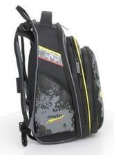 Черный ранец Hummingbird Racing для мальчика (T28)