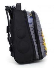 Серый ранец Hummingbird Urban Street для мальчика (T62)