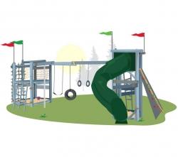 Детский игровой комплекс Crooked «Винни Пух»