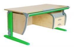 Парта Дэми (Деми) СУТ 15-05Д (парта 120 см+задняя приставка+двухъярусная задняя приставка+боковая приставка+подвесная тумба)