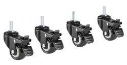 Колёсики со стопорами Smartstool  SFC-01
