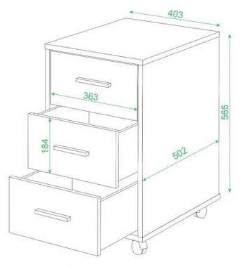 Тумба для компьютерного стола ТС-1