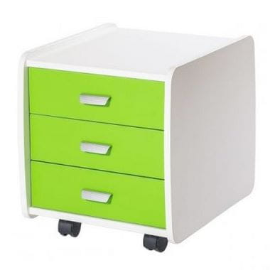 Тумба Астек Лидер 3 ящика с цветными фасадами