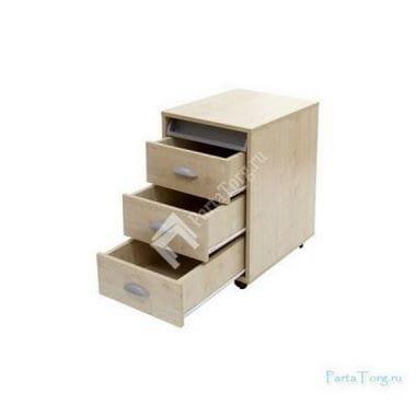 тумбы выкатная на 3 ящика + выдвижной пластиковый пенал (тув-02) ДЭМИ