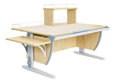 Парта ДЭМИ (Деми) СУТ 15-02Д (парта 120 см+задняя приставка+двухъярусная задняя приставка+боковая приставка)